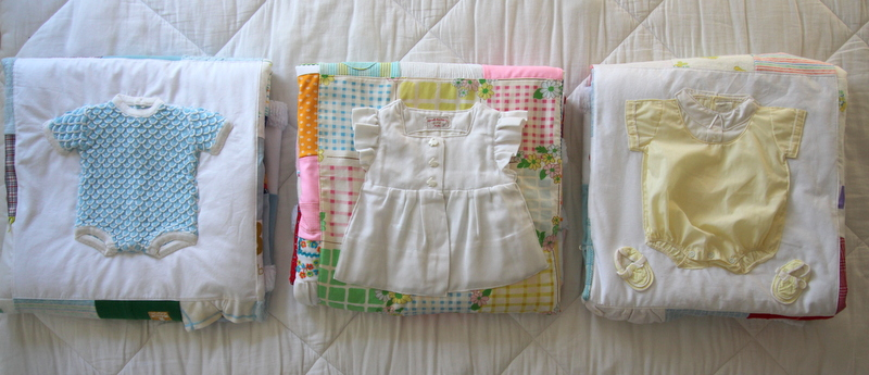 Vintage Baby Clothes Quilts