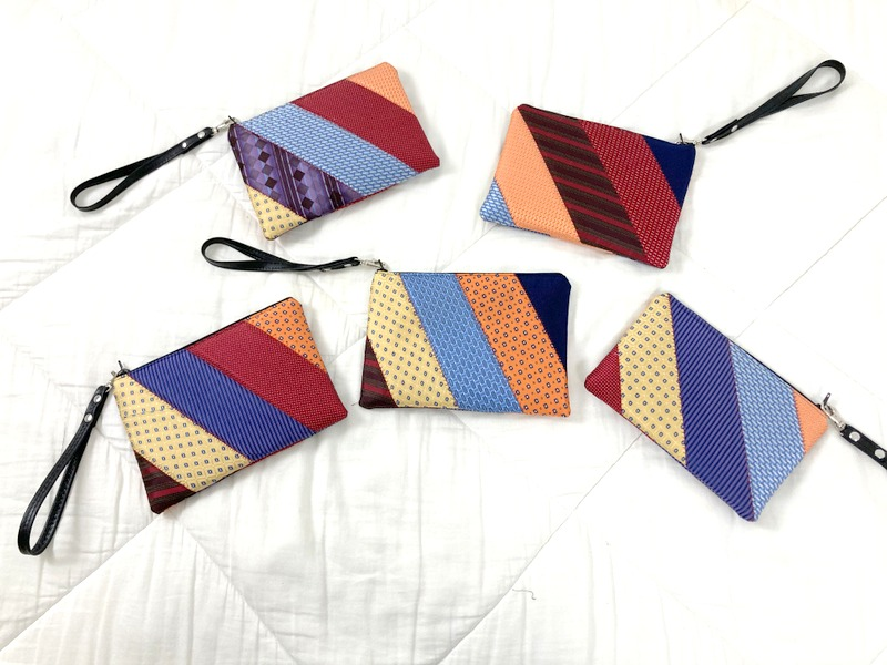 Clutch Bags made from Neckties and Flannel Shirts