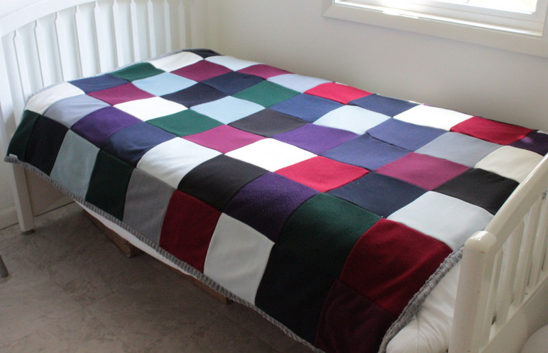 Quilt made from sweateres