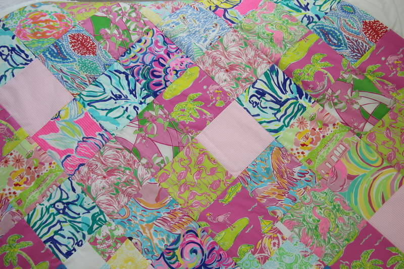 Lilly Pulitzer Memory Quilt
