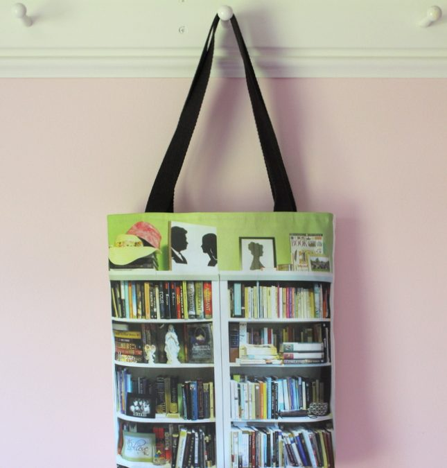 Custom Bookshelf Tote for College Graduation Gift